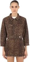 GUESS U.S.A. Leo Print Cotton Denim Jacket