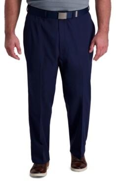 Haggar Men's Big & Tall Classic-Fit Cool Right Performance Flex Flat-Front Solid Dress Pants