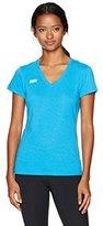 Soffe Women's Juniors 4oz V-Neck Short Sleeve Shirt