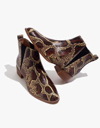 Madewell The Carina Boot in Snake Embossed Leather