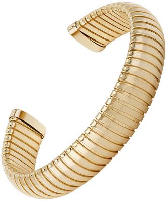 Janis Savitt Medium Yellow Gold Plated Cobra Cuff Bracelet