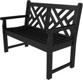Polywood Chippendale Bench, Black