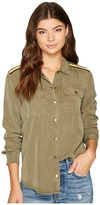 Splendid Military Button Down Women's Clothing