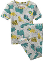 Joe Fresh Toddler Boys' Graphic Sleep Set, Grey Mix (Size 3)