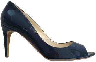 Rupert Sanderson Navy Patent leather Heels
