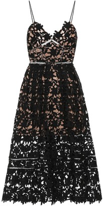 Self-Portrait Azalea floral lace midi dress