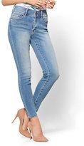 New York & Co. Soho Jeans - High-Waist Curvy Ankle Legging - Stargaze Blue Wash