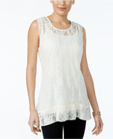 Style&Co. Style & Co Sleeveless Lace Tunic, Created for Macy's