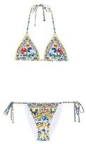 Dolce & Gabbana Printed Triangle Bikini