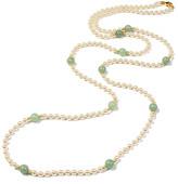 Ben-Amun Ben Amun Hippie Jade Bead & Pearly Long Necklace