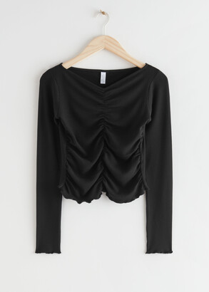 And other stories Fitted Shirring Top