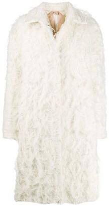 No.21 textured midi coat