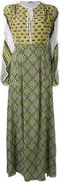 MSGM patterned maxi dress - women - Silk - 42