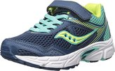 Saucony Girls' Cohesion 10 a/C Running-Shoes, Navy/Turquoise, 6.5 Wide US Big Kid