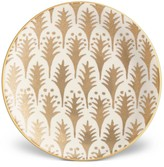 L'OBJET 4-Piece Fortuny Piumette Earthenware 24K Gold-Finish Canape Plates