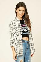 Forever 21 FOREVER 21+ Snap-Button Tartan Plaid Shirt