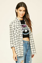 Forever 21 Snap-Button Tartan Plaid Shirt