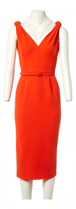Oscar de la Renta Orange Wool Dresses