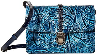 Patricia Nash Bellizzi Crossbody Organizer (Safflower Blue) Bags