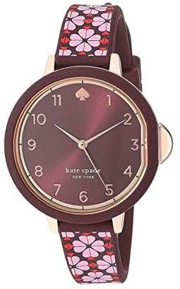 Kate Spade Park Row Flower Silicone Watch - KSW1570 (Pink) Watches
