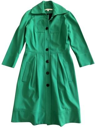 Diane von Furstenberg Green Viscose Coats