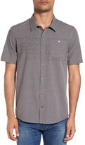 Travis Mathew Men's 'Soares' Regular Fit Stripe Short Sleeve Sport Shirt