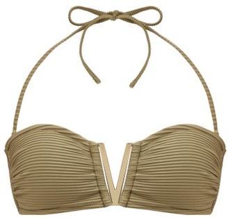 Heidi Klein Venice V-bar Bandeau Bikini Top - Womens - Khaki