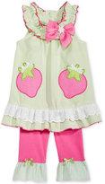 Nannette 2-Pc. Strawberries Tunic and Capri Leggings Set, Baby Girls (0-24 months)