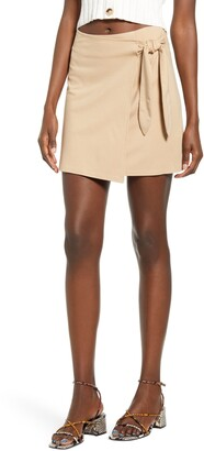 4SI3NNA the Label Brinley Wrap Front Skirt