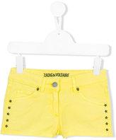Zadig & Voltaire Kids - star studded denim shorts - kids - Cotton/Spandex/Elastane - 4 yrs