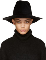 CLYDE Black Felt Pinch Fedora