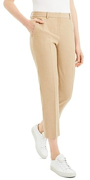 Theory Virgin Wool Tailored Cropped Pants