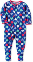 Carter's 1-Pc. Heart-Print Footed Pajamas, Baby Girls (0-24 months)