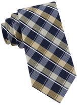 Black Brown 1826 Multi-Color Plaid Silk-Blend Tie
