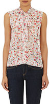 Barneys New York Women's Tieneck Sleeveless Blouse-WHITE