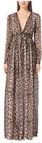 Michael Kors Leopard-Print Maxi Dress