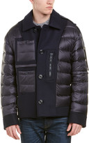 Moncler Quilted Wool-Blend Down Jacket