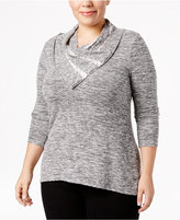 Style&Co. Style & Co Plus Size Cowl-Neck Marled Top, Only at Macy's