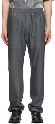 Serapis Grey Grid Trousers