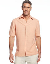Tasso Elba Island Big and Tall Short Sleeve Silk and Linen Blend Shirt