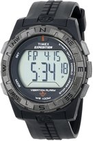 Timex Men's T498519J Expedition Rugged Digital Vibration Alarm Black Resin Strap Watch