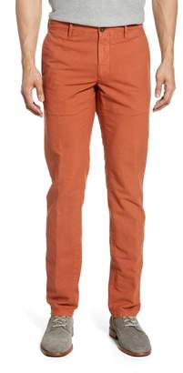 Incotex Flat Front Solid Stretch Cotton Chino Trousers
