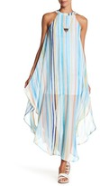 Just For Wraps Stripe Maxi Slit Dress