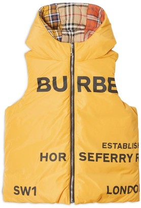 Burberry Kids Horseferry Reversible Gilet (3-14 years)
