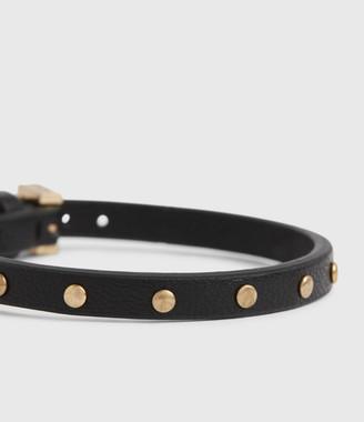 AllSaints Hero Leather Cuff Bracelet