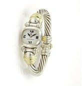 david yurman 925 sterling silver u0026 14k yellow gold quartz 19mm womens watch
