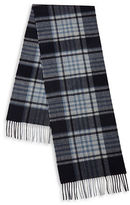 Black Brown 1826 Fringed Plaid Cashmere Scarf