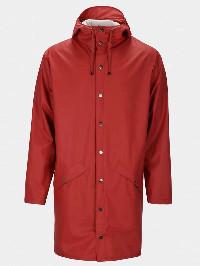 Rains Scarlet Long Jacket - S/M - Red