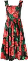 Dolce & Gabbana Laceleaf-print midi dress