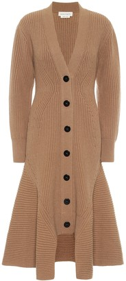 Alexander McQueen Wool and cashmere longline cardigan